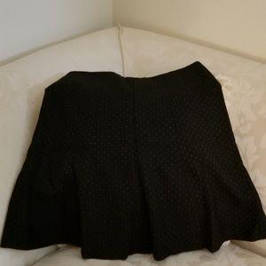Wool blue mini skirt